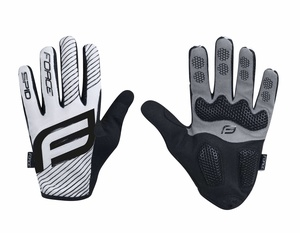 Force rukavice MTB SPID 17, letní bez zapínání, bílé