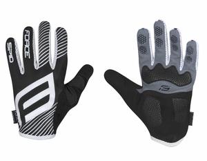 Force rukavice MTB SPID 17, letní bez zapínání, černé