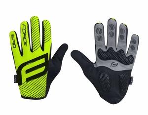 Force rukavice MTB SPID 17, letní bez zapínání, fluo