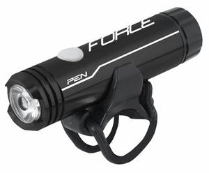 Force světlo přední PEN 200Lm USB, 1 dioda, černé