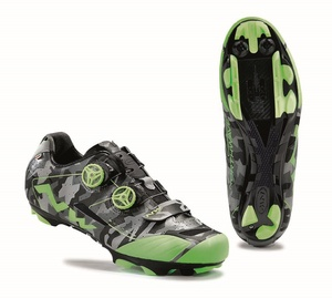 Northwave tretry Extreme XCM Reflective Camo - Green Fluo