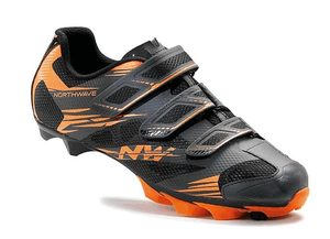 Northwave tretry Scorpius 2, anthracit/orange fluo
