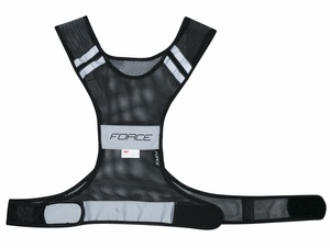 Force vesta reflexní SAFE do pasu na suchý zip, černá