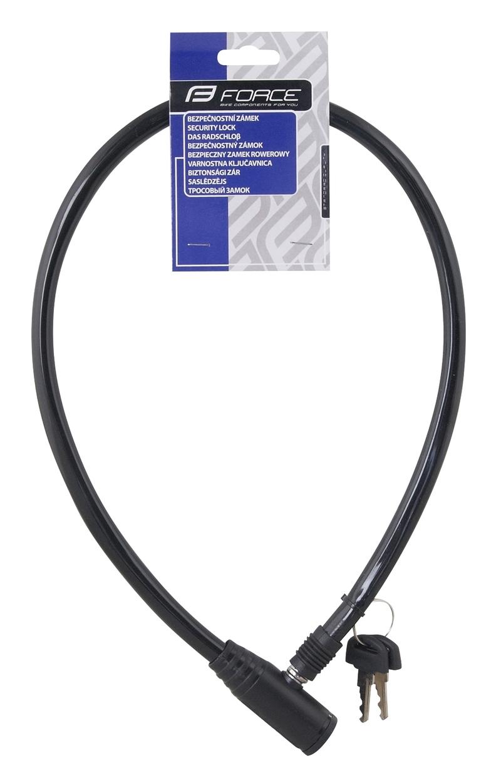 Force zámek ECO klíčkový bez držáku 70cm/8mm, černý