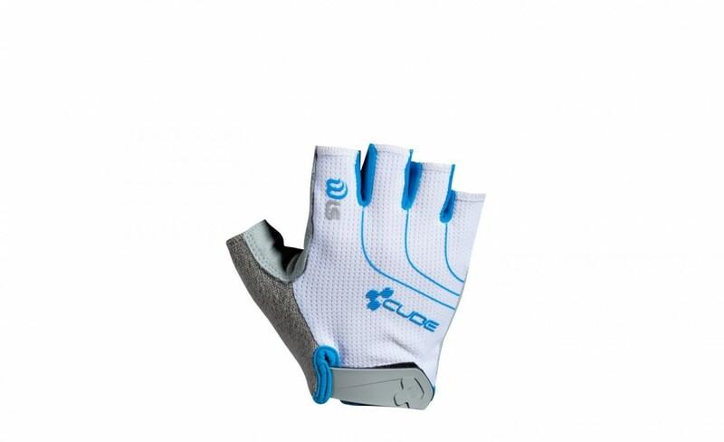 Cube dámské rukavice Natural Fit LTD WLS white/blue