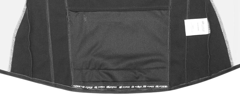Force bunda X72 softshell pánská, černo-bílá