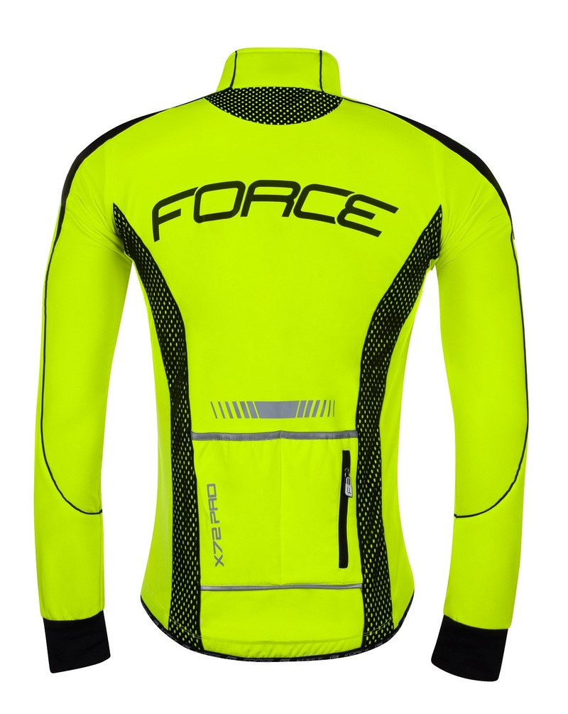 Force bunda X72 PRO softshell pánská, fluo-černá