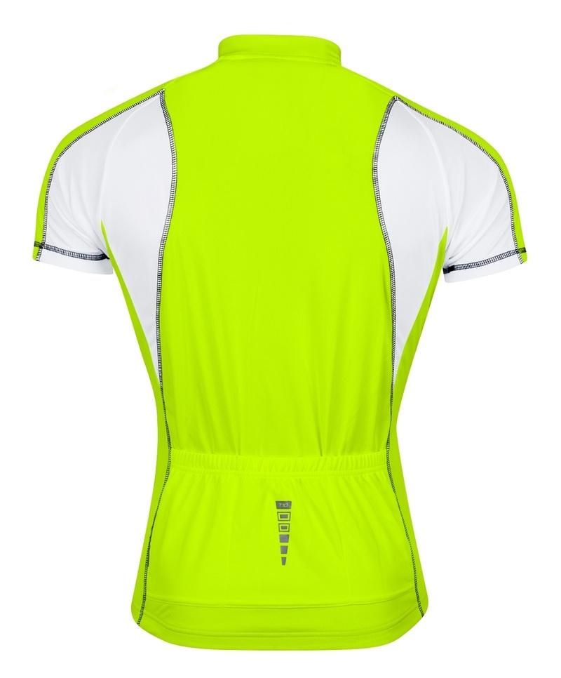 Force dres T10 krátký rukáv, fluo-bílý