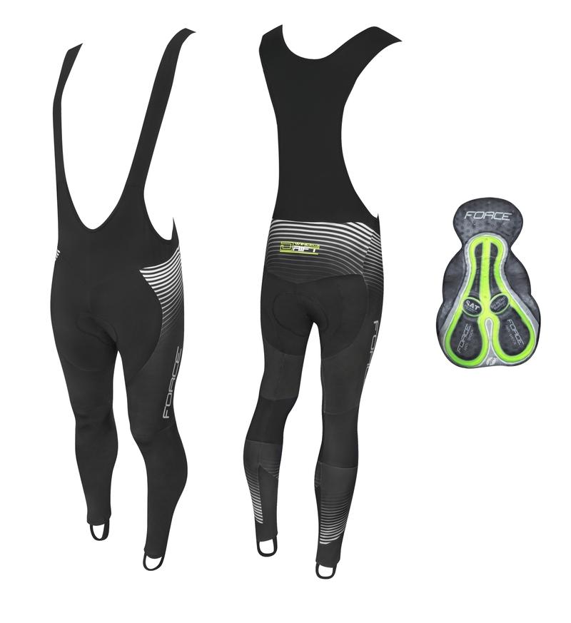 Force kalhoty DRIFT WIND se šráky a vložkou, černé