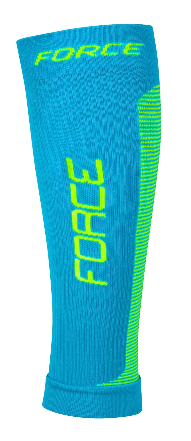 Force kompresní návleky modro-fluo