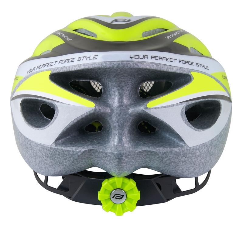Force dětská helma HAL, fluo-černá