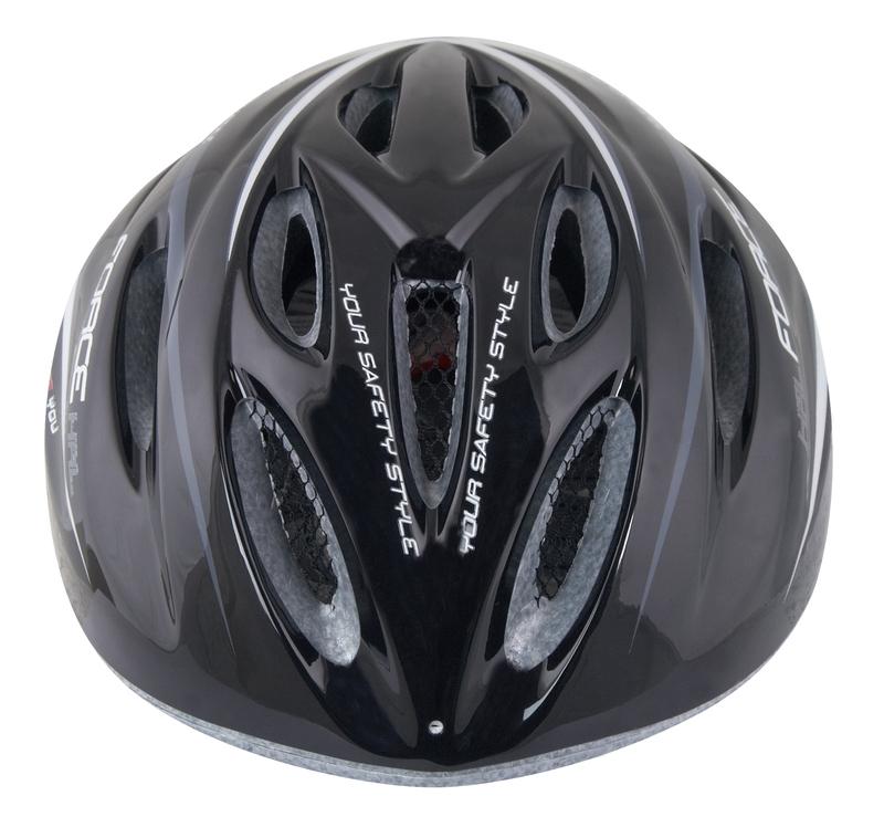 Force dětská helma HAL, černo-šedo-bílá