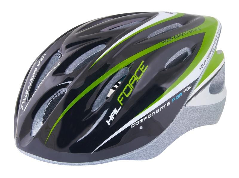 Force dětská helma HAL, černo-zeleno-bílá