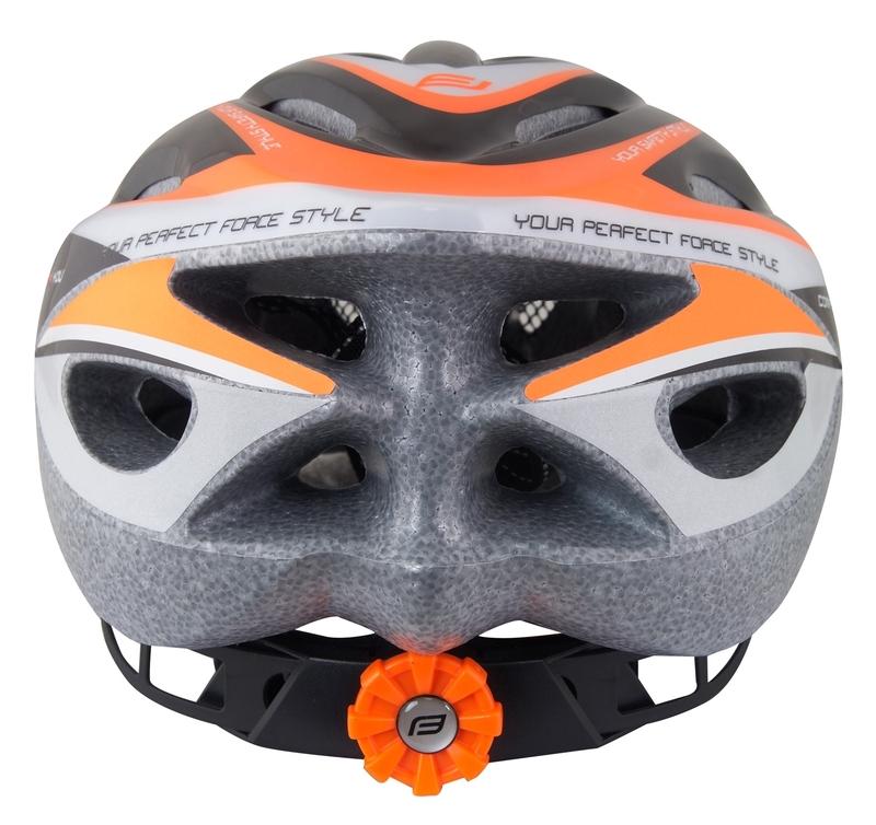 Force dětská helma HAL, černo-oranžovo-bílá