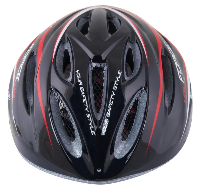 Force dětská helma HAL, černo-červeno-bílá