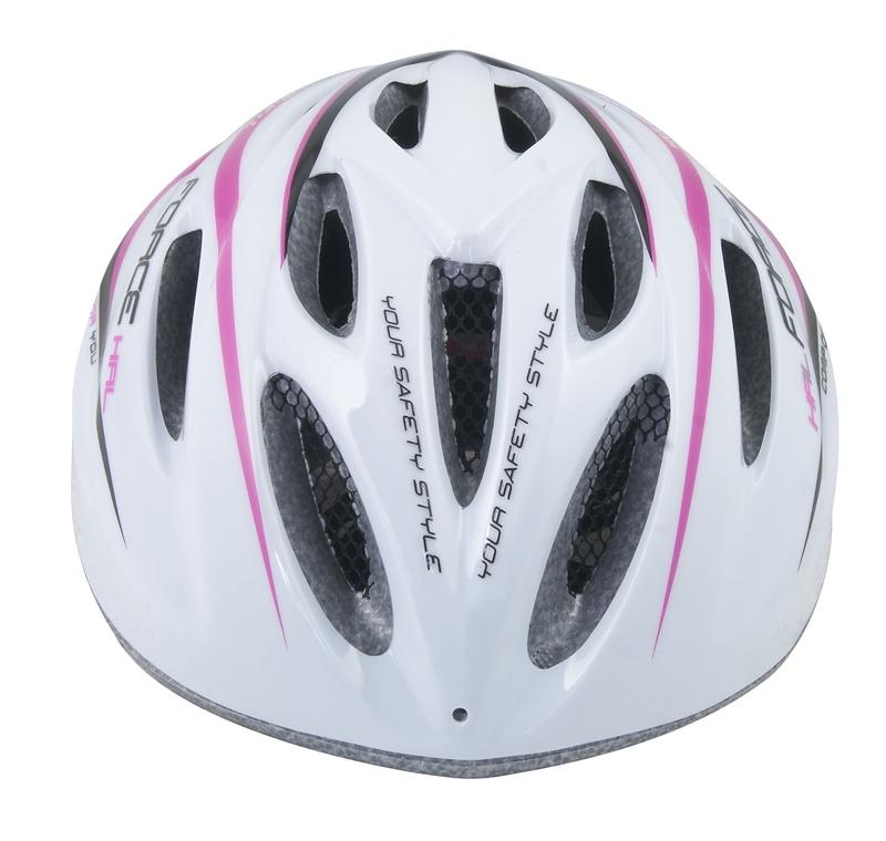 Force dětská helma HAL, bílo-růžová