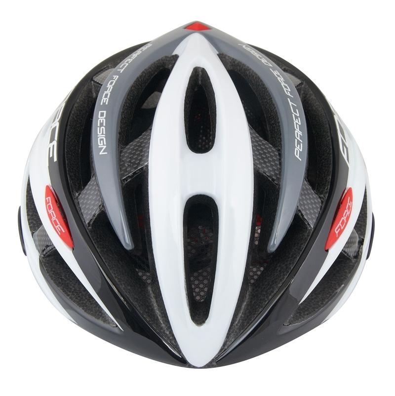 Force helma ROAD JUNIOR, černo-bílo-šedá