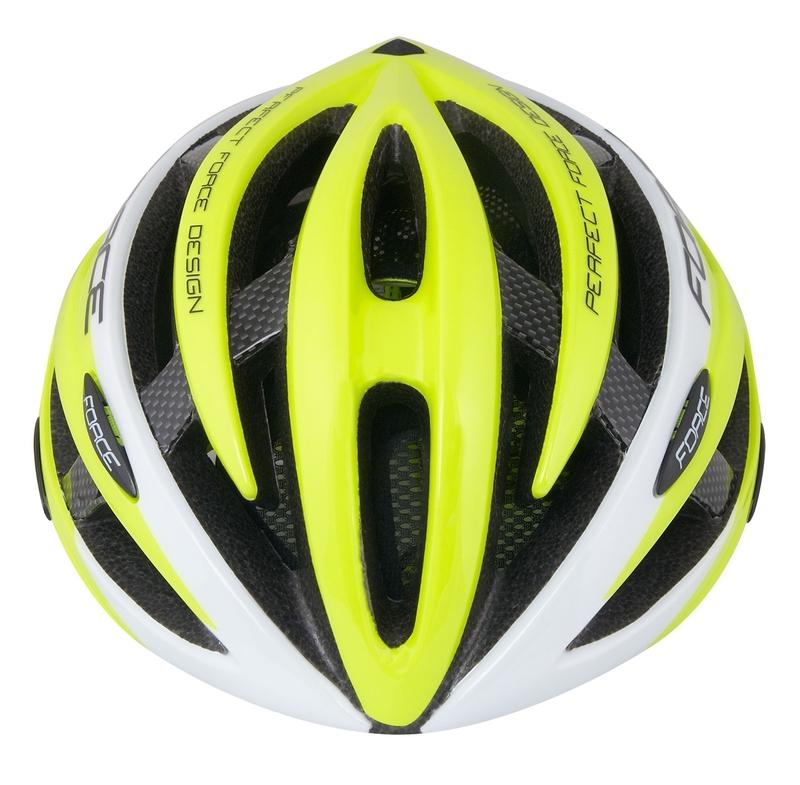 Force helma ROAD JUNIOR, fluo-bílá