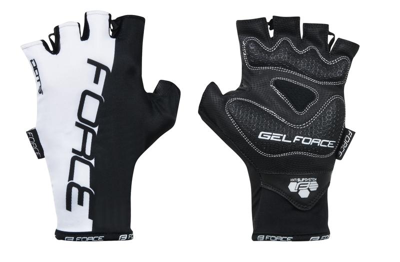 Force rukavice DOTS bílo černé