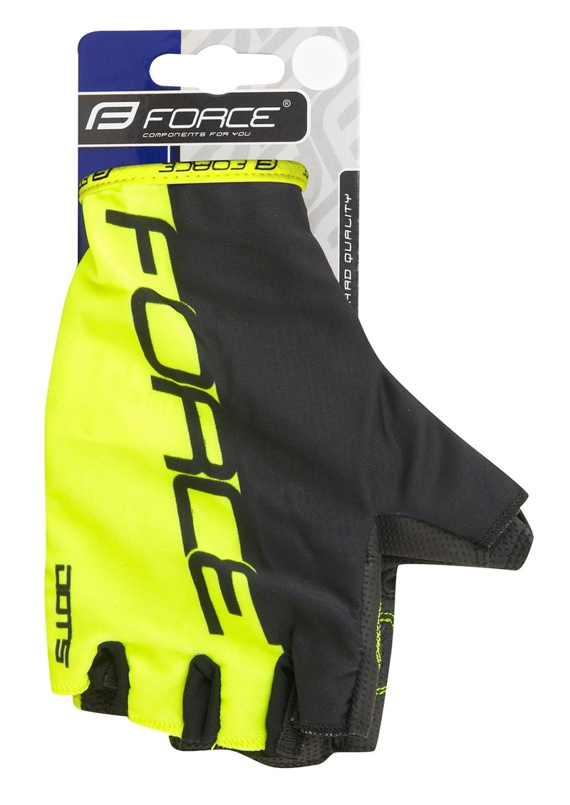 Force rukavice DOTS fluo-černé