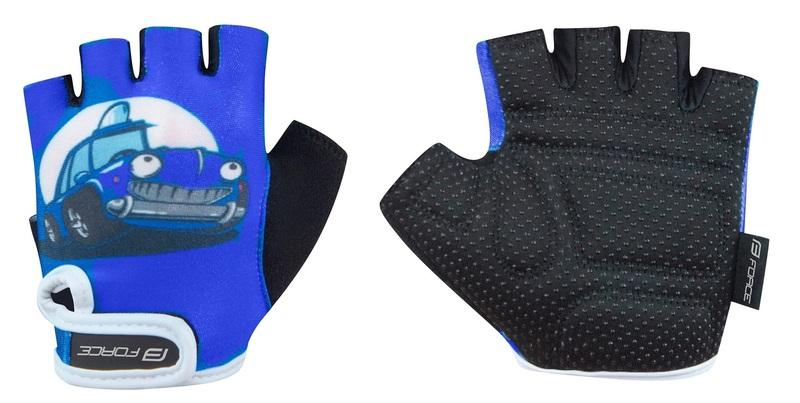 Force rukavice KID dětské, modré auto