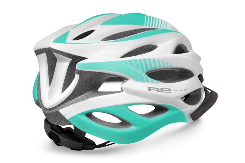R2 helma WIND bílá, mentolová zelená