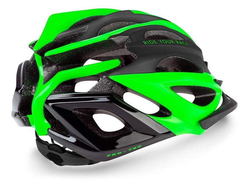 R2 helma PRO-TEC černá, zelená