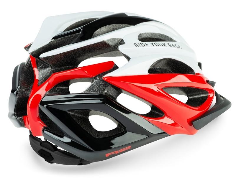 R2 helma PRO-TEC bílá, červená, černá