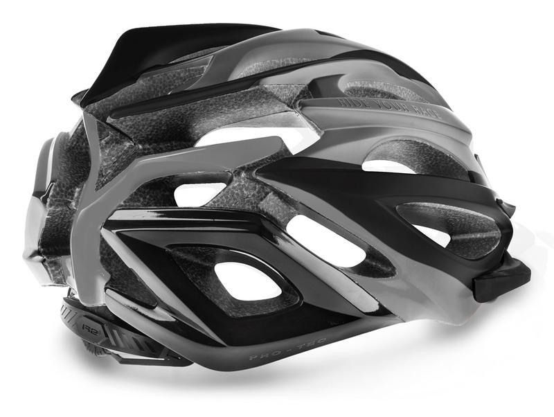 R2 helma PRO-TEC šedá, černá