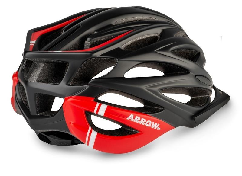 R2 helma ARROW černá, červená
