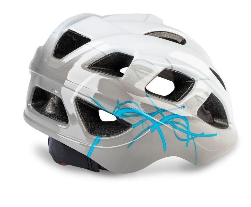 R2 helma BONDY bílá, šedá, modrá