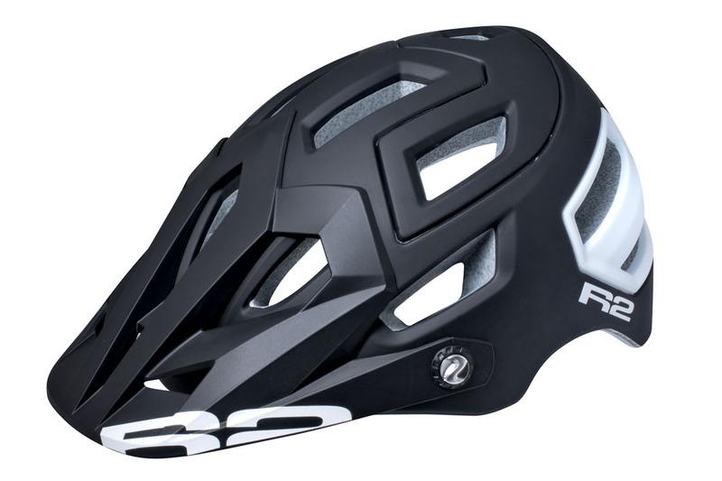 R2 helma TRAIL černá, bílá logo