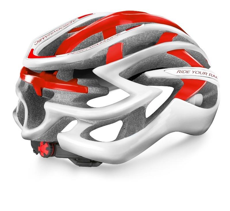R2 helma EVOLUTION bílá, červená / lesklá