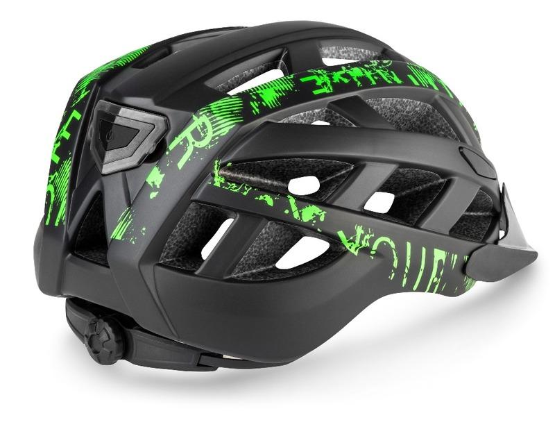 R2 helma LUMEN černá, zelená / matná