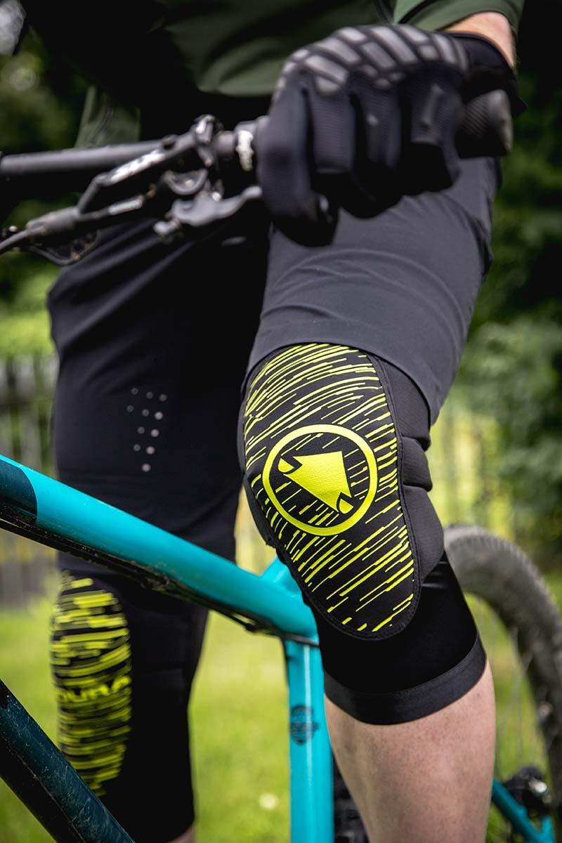 Endura chrániče na kolena SINGLETRACK Lite II zelené