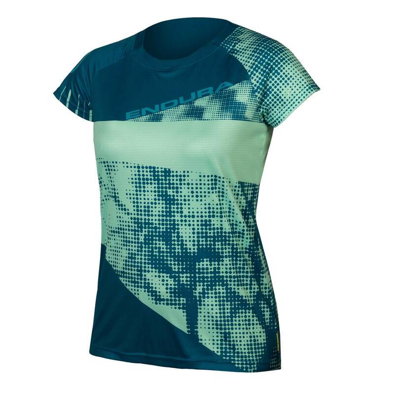Endura dámský dres SINGLETRACK Dots T LTD ledňáčkově modrá