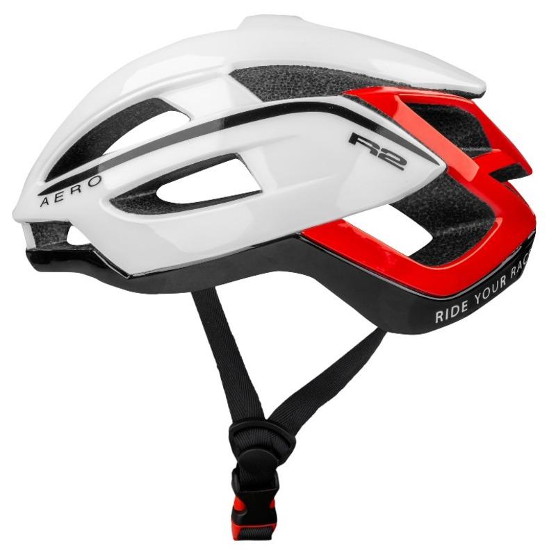R2 helma AERO bílá, černá, červená