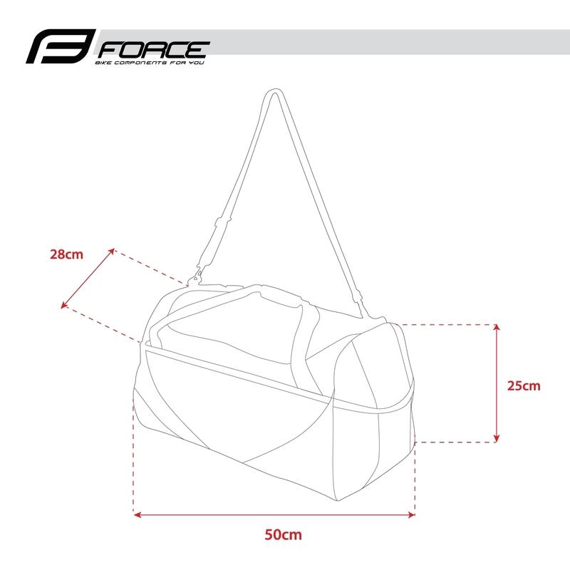 Force taška sportovní ACTION PLUS 35l černá