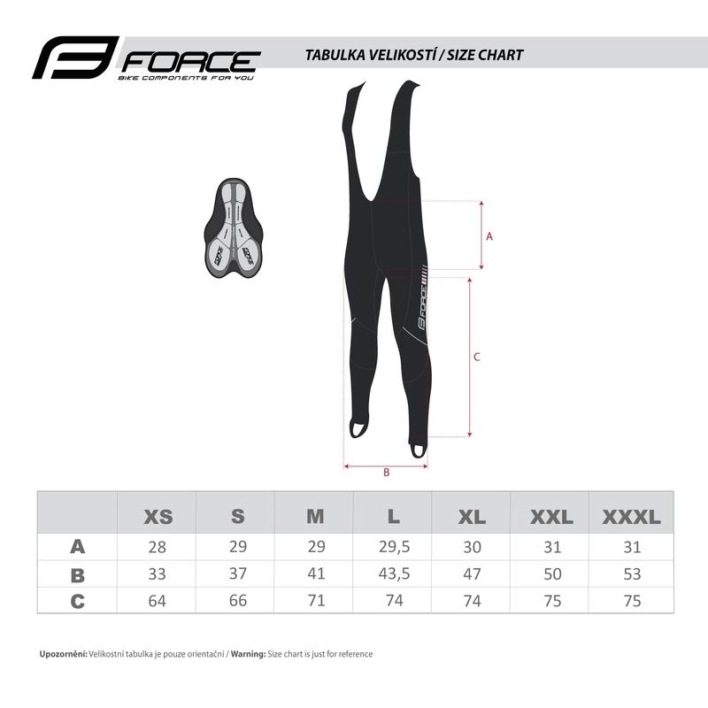 Force kalhoty FORCE Z68 se šráky s vložkou, černé