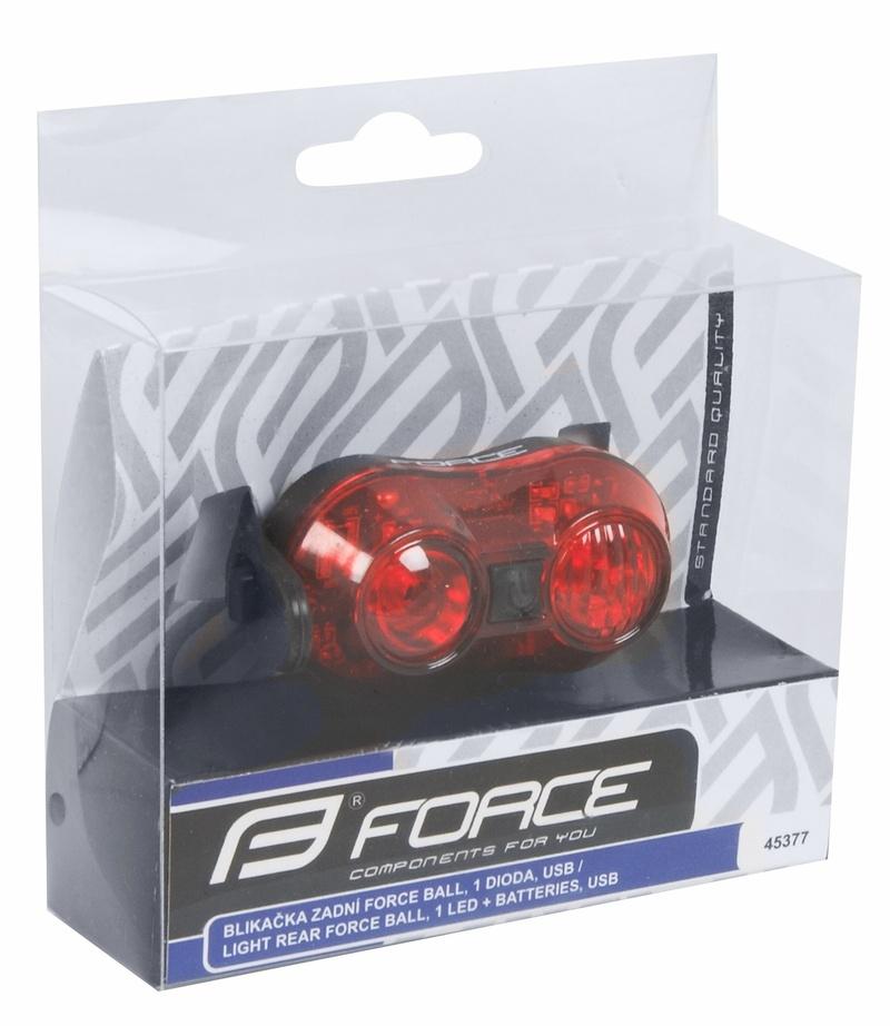 Force blikačka zadní BALL, 1 dioda, USB