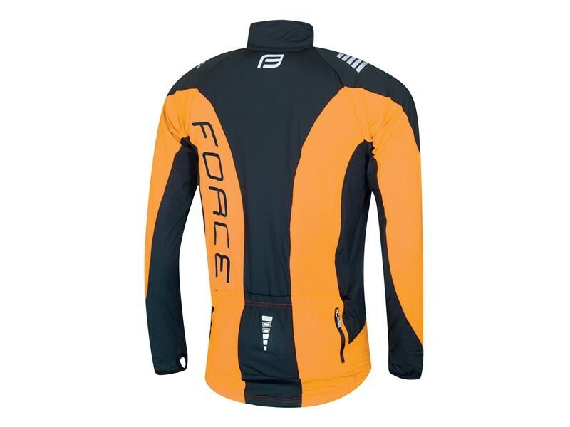 Force bunda dlouhý rukáv X68, černo-oranžová