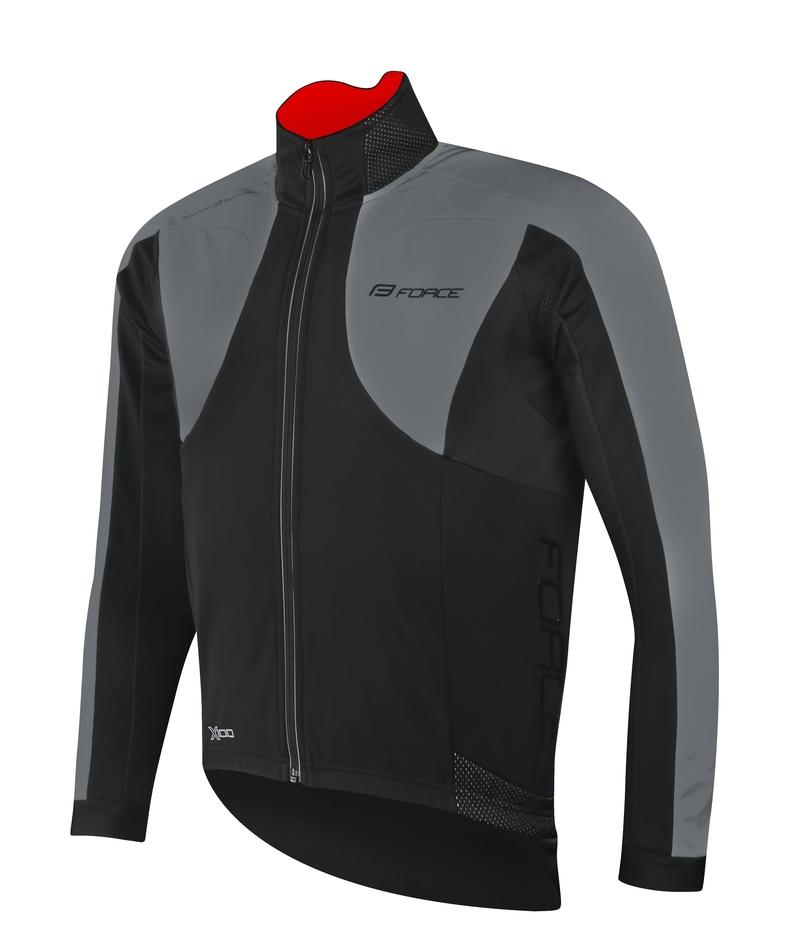 Force bunda X100 zimní, černo-šedá