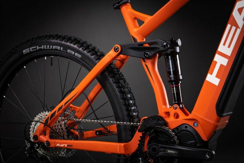 Head horské elektrokolo TERNI orange matt