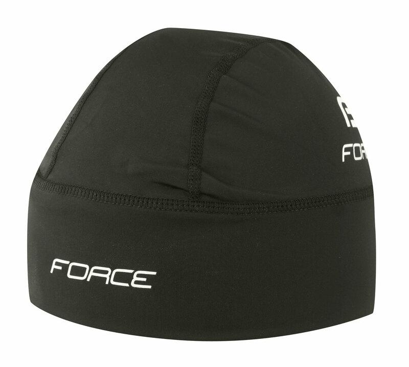 Force čepice pod přilbu lycra, černá UNI