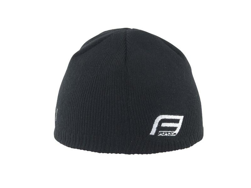 Force čepice zimní s kšiltem, pletená černá