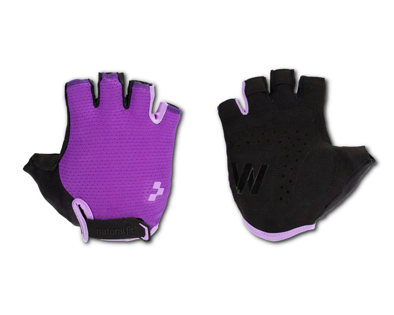 Cube rukavice WS X Natural Fit short finger, violet´n´purple