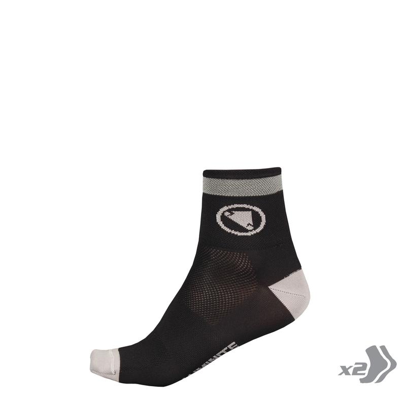 Wms Luminite Sock (Twin Pack): Black - One size