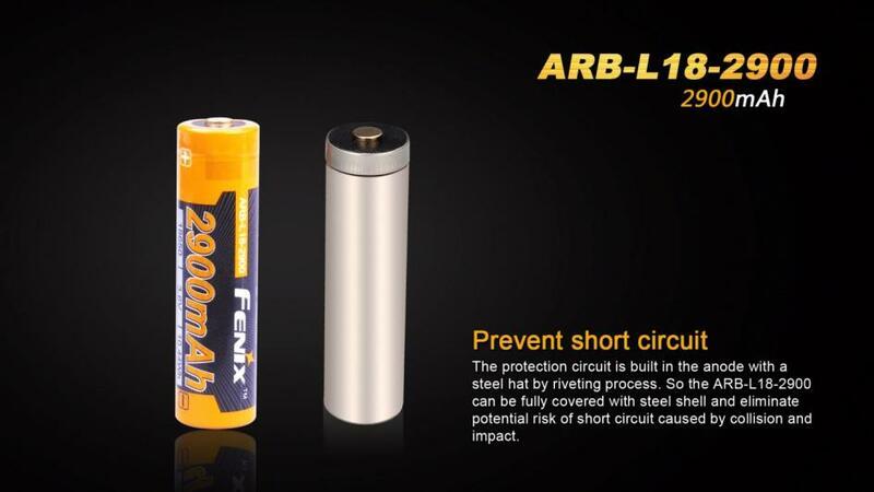 Fenix Dobíjecí baterie Fenix 18650 2900mAh (Li-Ion)