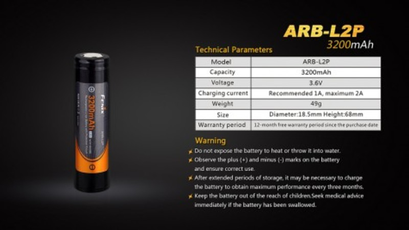 Fenix Dobíjecí baterie Fenix 18650 3200mAh (Li-Ion)