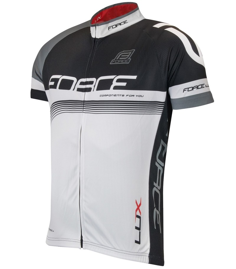 Force dres LUX krátký rukáv černo-bílý